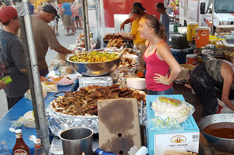 This vendor has wonderful but expensive food