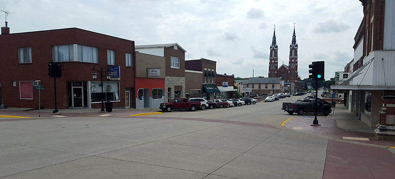 Downtown Dyersville IA