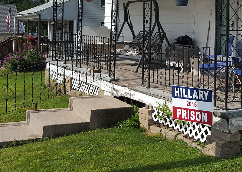 Political sign in Colesburg IA