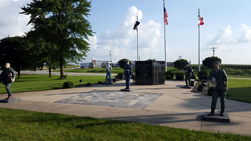 The memorial statues at Gateway Park
