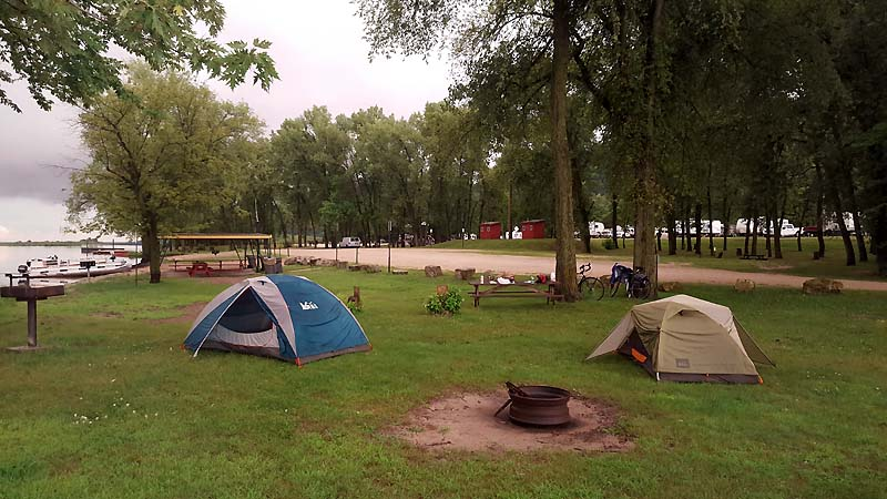 Idyllic campsite  at Wildcat