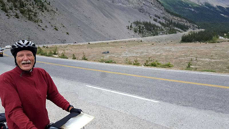 Climbing Sunwapta Pass