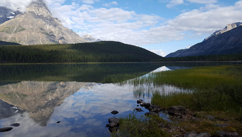 The southernmost Waterfowl Lake