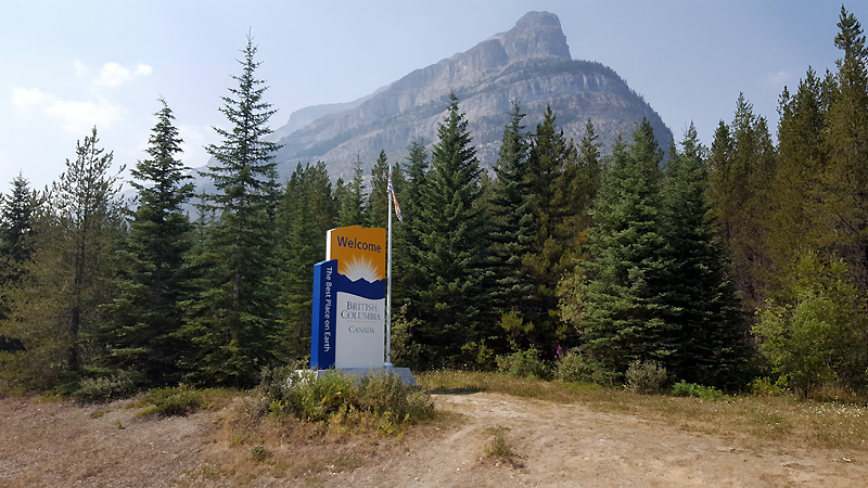 Into British Columbia