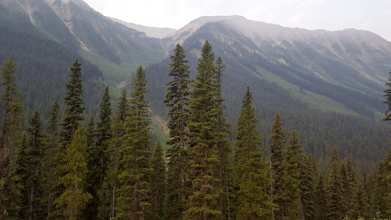 What we can see of Kootenay National Park