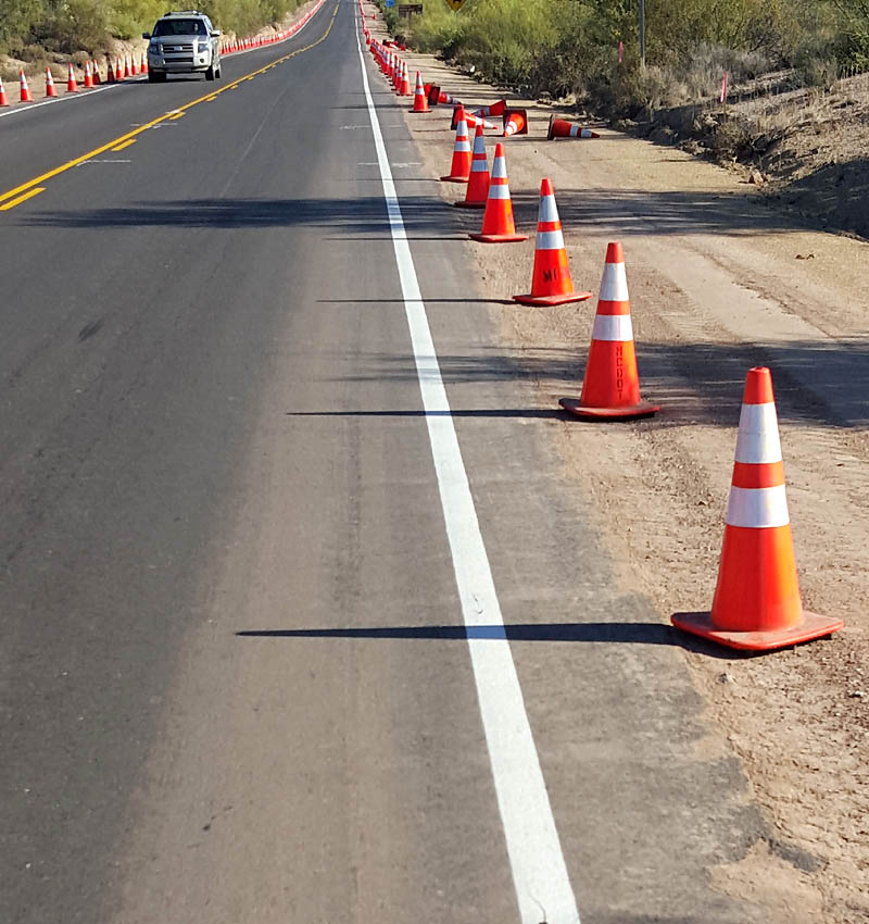 A new bike lane on Bush Highway in process!
