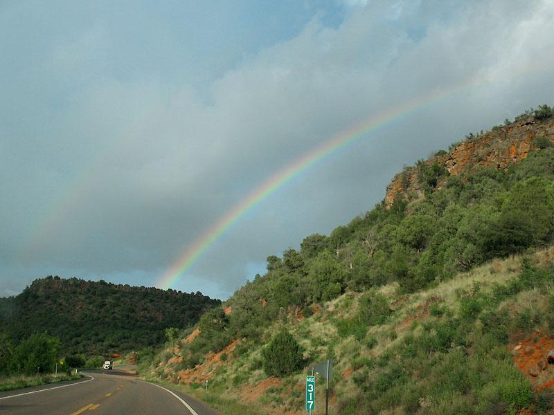 Pretty rainbow on the way