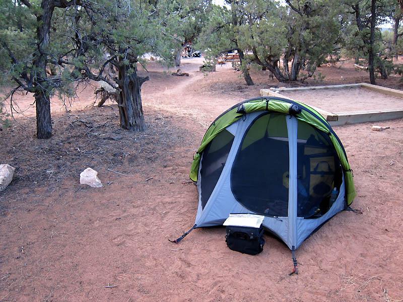Great campsite at Natural Bridges NM