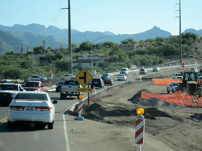 Thick traffic in north Tuscon