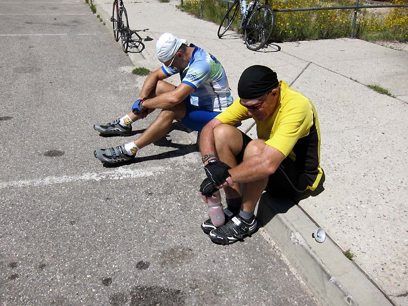 Off the bikes at Palisades
