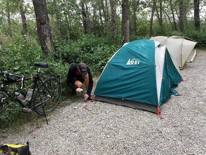 Fixing my tent