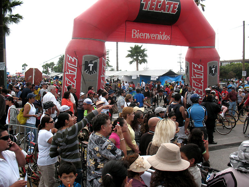 Finish Line at the Fiesta Entrance