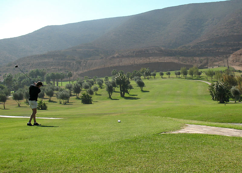 Rich teeing off on #2 Baja Country Club