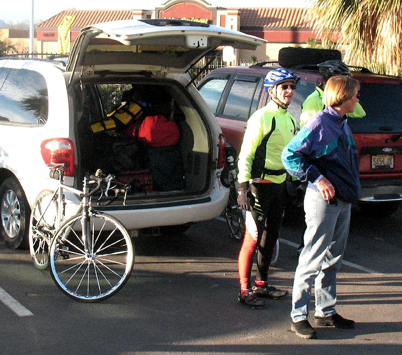 Rider and Sharon at Motel 6