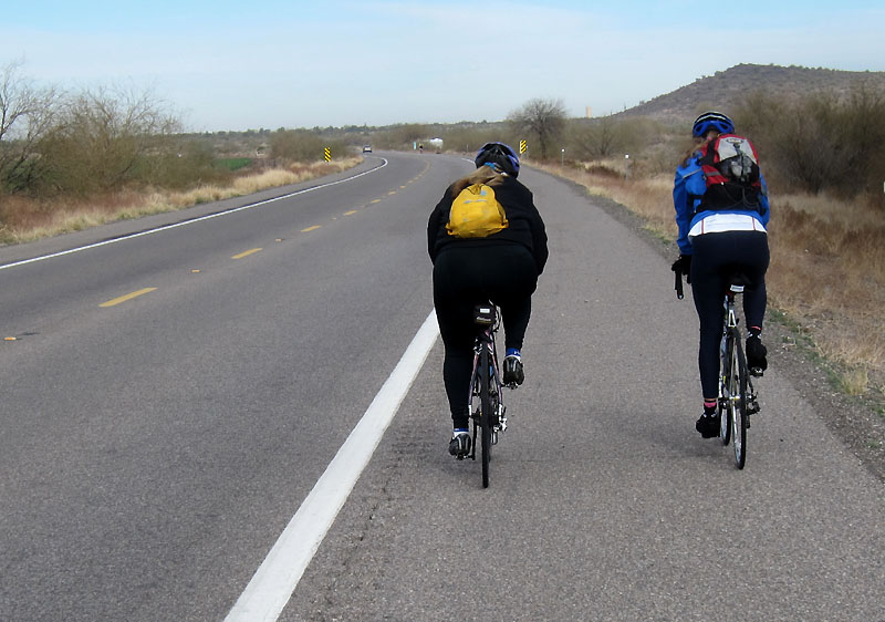 Mary Ellen and Denise rolling up AZ87