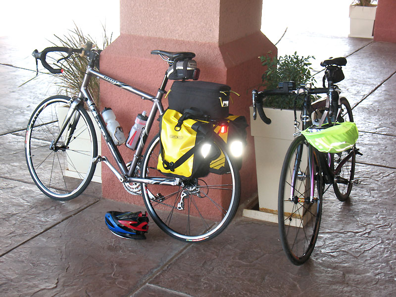 Our bikes at the Casa Grande Holiday Inn