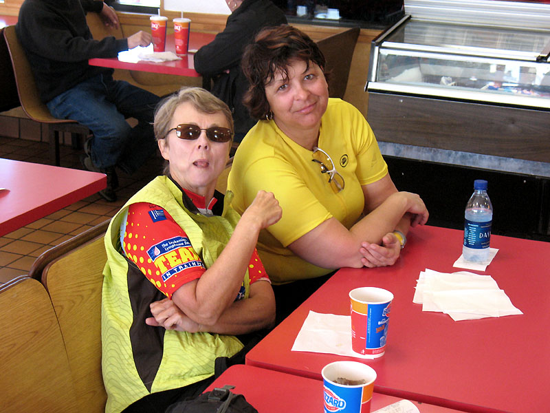 Sally and Darlene enjoying the midday stop