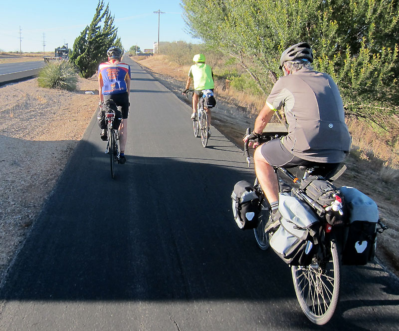 Bicycle lane in Sierra Vista