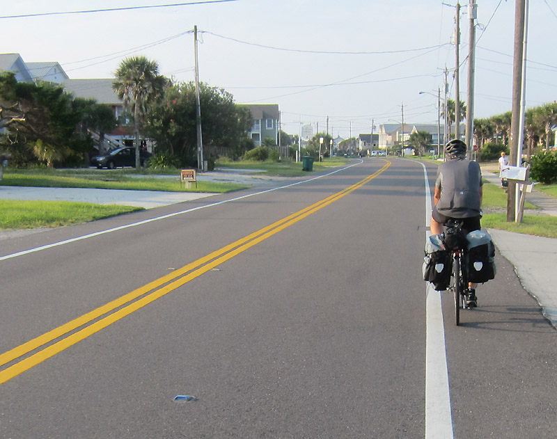 South through Fernandina Beach