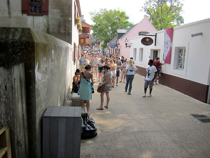 Tourist Row in St Augustine