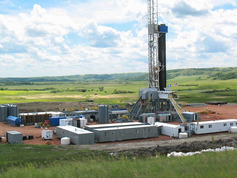 Modern oil well