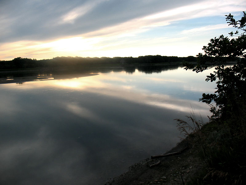 Sunset views of the Missouri River