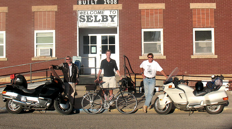 Paul, Rich, and Lee on Main Street, Selby SD