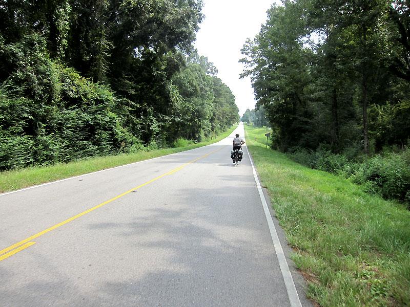 Beautiful riding along the way