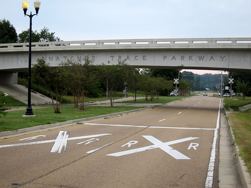 The start of the Natchez Trace Parkway