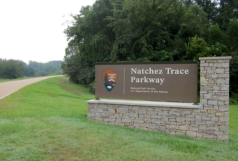 MP 0.0 on the Natchez Trace Parkway