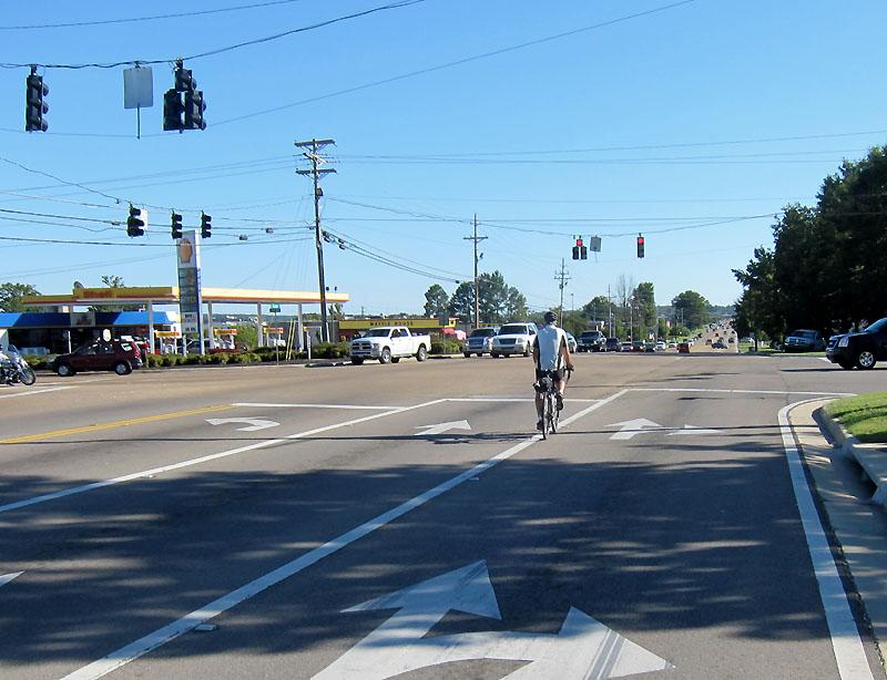 Poor bicycle passage through Tupelo