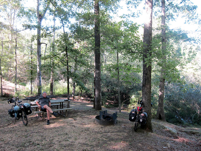 Ideal campsite at Tishomingo State Park