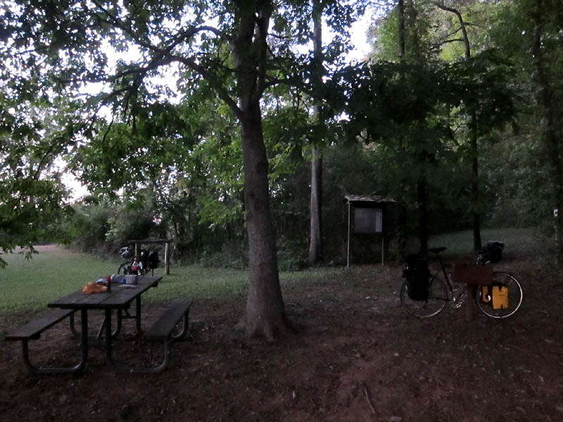 Twilight at our campsite in Duck River TN