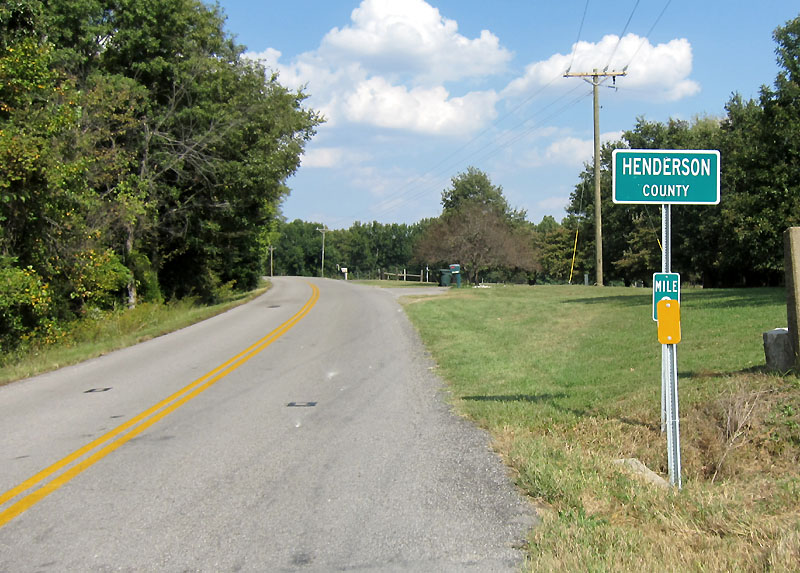 Henderson County Line - we're close