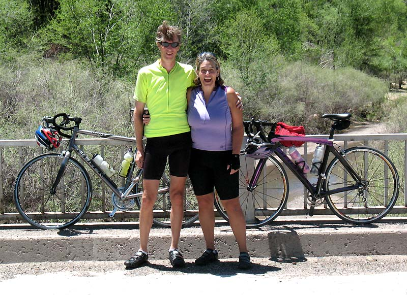 At the bridge leading in to Reserve, NM