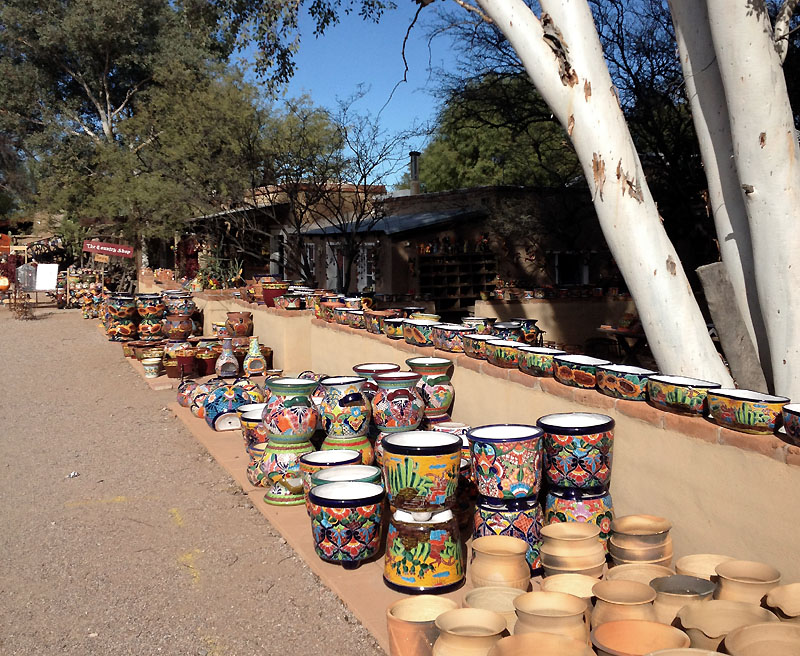 Arts and crafts in central Tubac